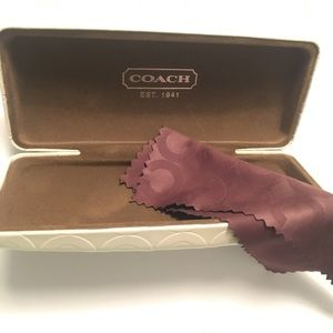 COACH Case eye glasses sunglasses New C logo box